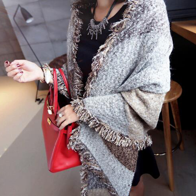 Fashion Scarf Women Cashmere Pashmina Wool Scarf Shawl Winter Warm Scarves Clothing Accessories