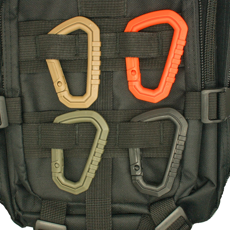 4 Pcs/lot Molle EDC Tactical D Type Quick Release Mountaineering Buckle Snap Clip Climbing Carabiner Hanging Climbing Buckles