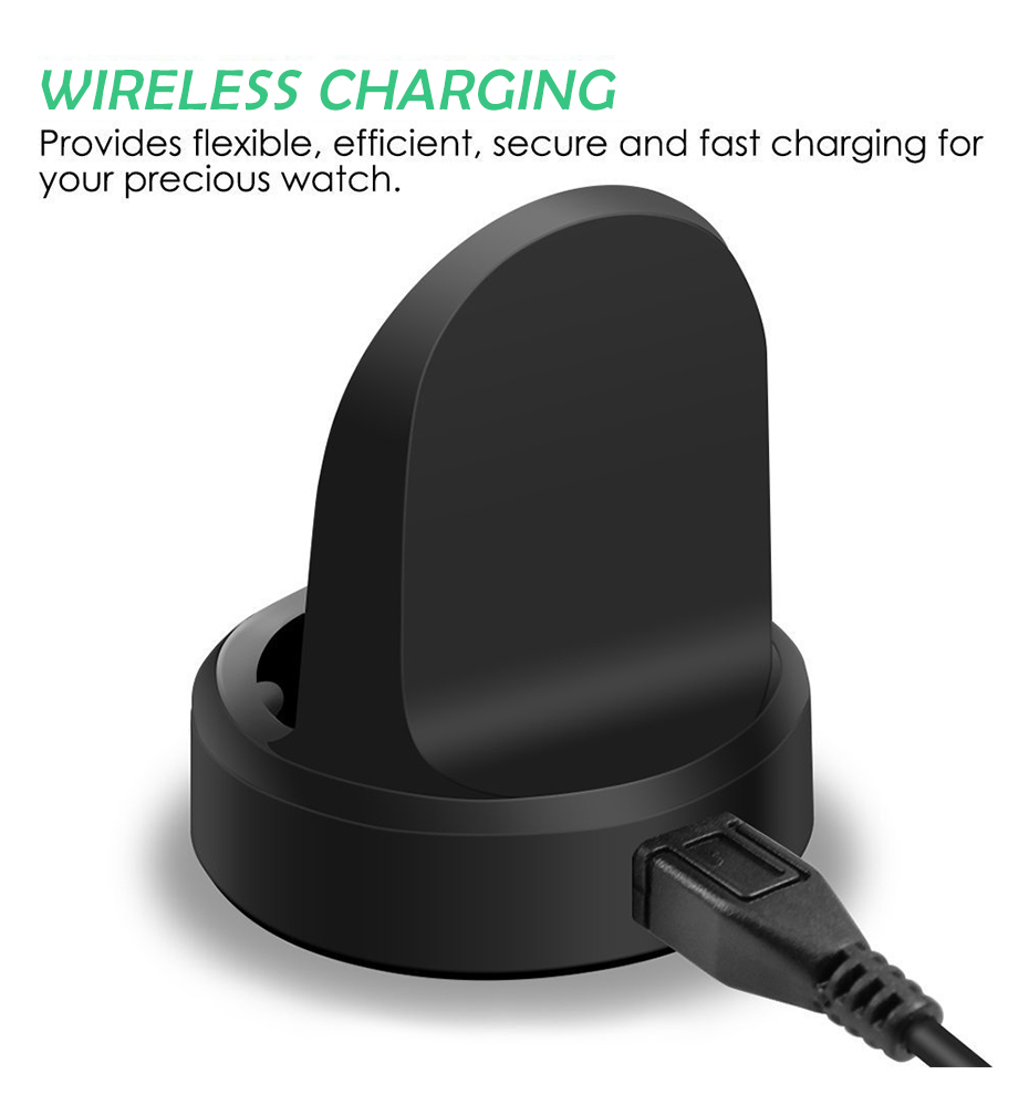 Black Wireless Charging Dock Cradle Charger For Samsung Galaxy Gear Gear S3classic Dock High Quality Charger For Samsung Gear S2 Smart Watch Wireless Charger 005408_04