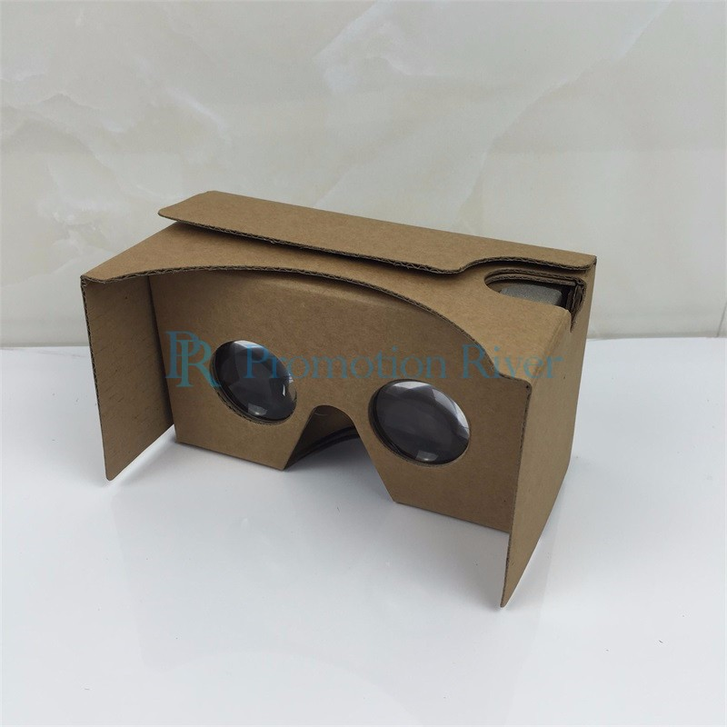 Event Supplies Logo Custom Google Cardboard V 2.0 Custom printing Virtual Reality Headset VR Viewer for up to 6 inch phone 9