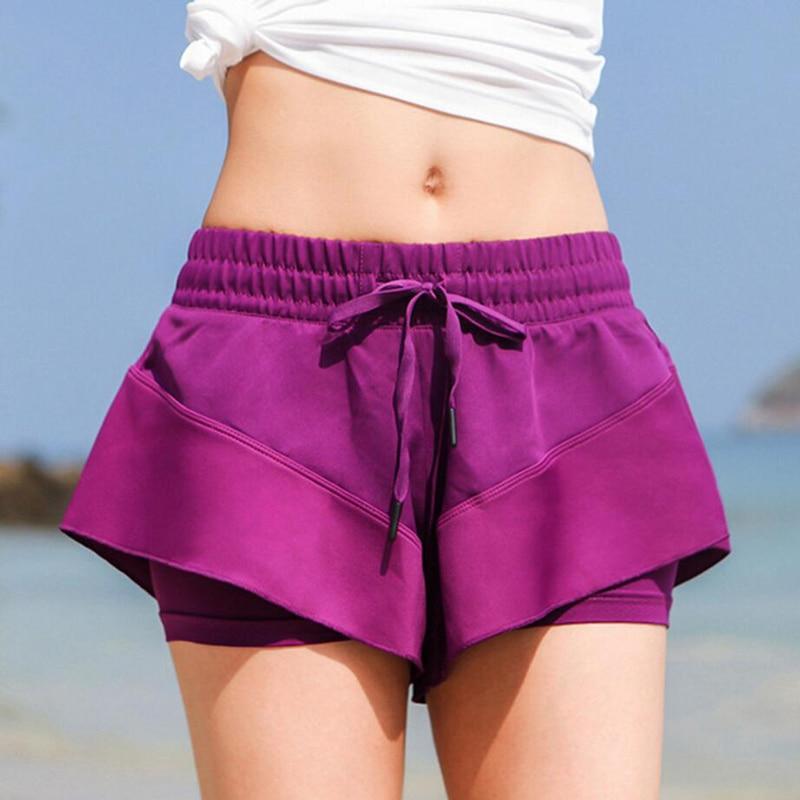 Women Sports Shorts Loose Quick Drying Fitness Shorts Anti-light Running Shorts High Elasticity Female Yoga Shorts