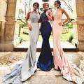 Hot Halter Lace Blush Pink Bridesmaid Dresses Mermaid Long Women Bridesmaid Gown Under 100 Cheap Bridesmaids Dress Vestidos De