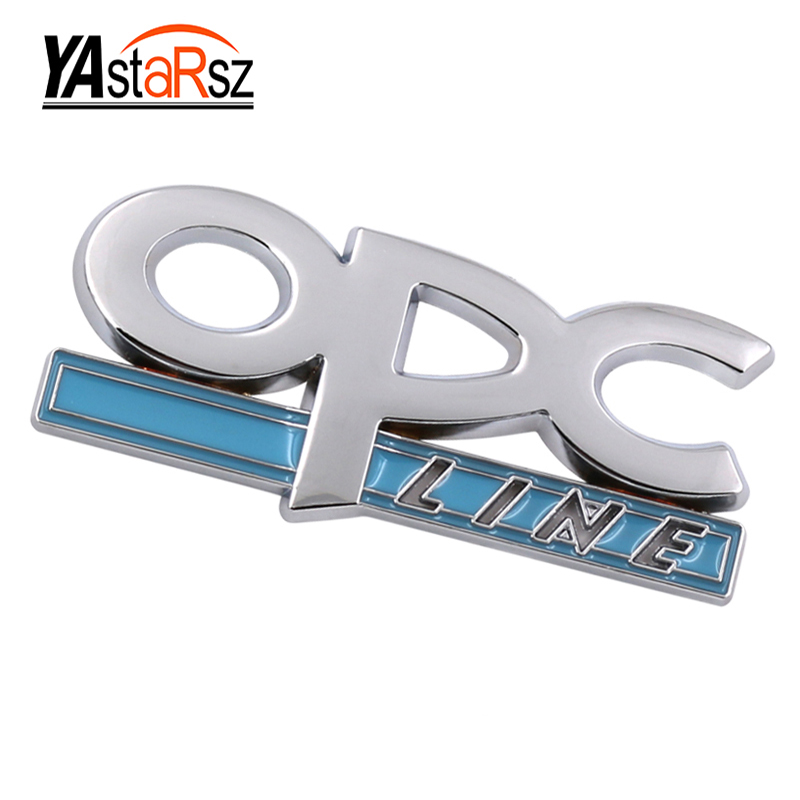 Car-styling 3D Metal OPC LINE Emblem Car Side Fender Tail Badge Sticker for OPEL Zafira b Corsa d Insignia Mokka Regal car cove 1x car styling 3d metal emblem car body side stripe fit camaro corvette colorado for licensed stickers 3d sticker badge emblem