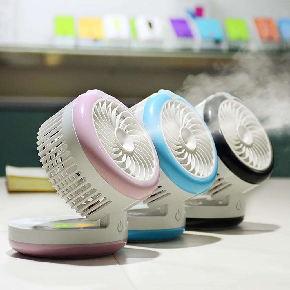 Cute Rechargeable USB Fan Air Humidifier Mini Portable Spraying Humidifiers Fan Home Office Water Mist Fan Ventilator Purifier