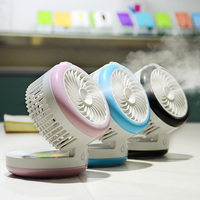 Cute Rechargeable USB Fan Air Humidifier Mini Portable Spraying Humidifiers Fan Home Office Water Mist Fan