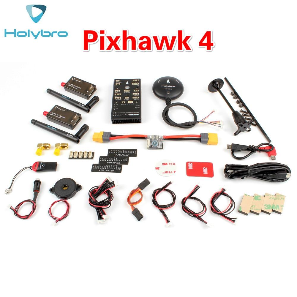 HolyBro Pix32 Pixhawk 4 Flight Controller & M8N GPS Module&PM02&Radio Telemetry V3 Set Autopilot Kit For Multirotor Aircraft