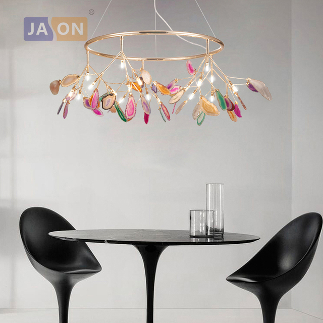 g4 led Nordic Iron Agate Designer Firefly LED Lamp LED Light Pendant Lights Pendant Lamp Pendant Light For Foyer Dinning Room