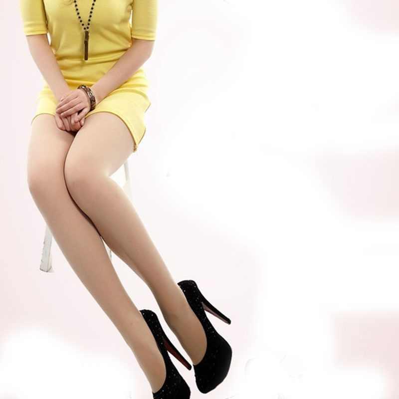 Осенние женские сексуальные Эластичные Обтягивающие модные однотонные бархатные колготки с высокой талией, теплые колготки 80D 2018