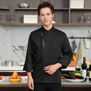 Image 5 - Unisex Chef Uniform Food Service Cook Jacket Long /Short Sleeve Kitchen Work Clothes Pastry Bakery Restaurant Cooking Overalls