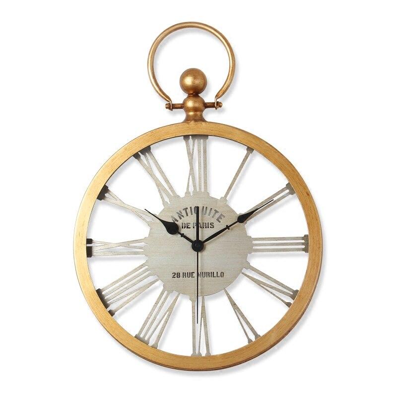 Grande Orologio Da Parete Orologio Saat Reloj Relogio de parede Retrò In Metallo soggiorno Muto camera da letto duvar saati casa decorn orologi da parete orologio