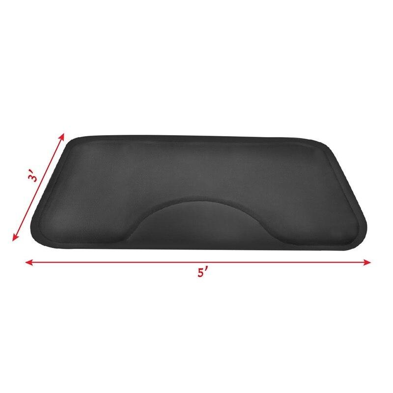 Noir Rectangle Salon de coiffure tapis de sol anti-dérapant étanche bureau maison chaise tapis HB84663 - 3