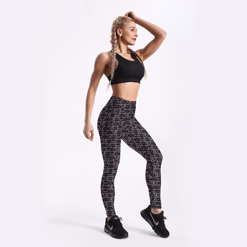 The United States hot new fashion national style pattern printing casual breathable leggings sexy fitness ladies leggings