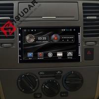 Metal Marcos 2 Din 7 pulgadas Android 7.1 reproductor de DVD del coche sistema estéreo para Universal/Nissan/Toyota/ hyundai/VW GPS USB Bluetooth Radios