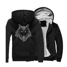 Wolf Hoodie Sweatshirt Men Spring Winter 2019 Warm Animal Jackets Long Sleeve Mens Hoodies Hip Hop Streetwear For Fans CM01