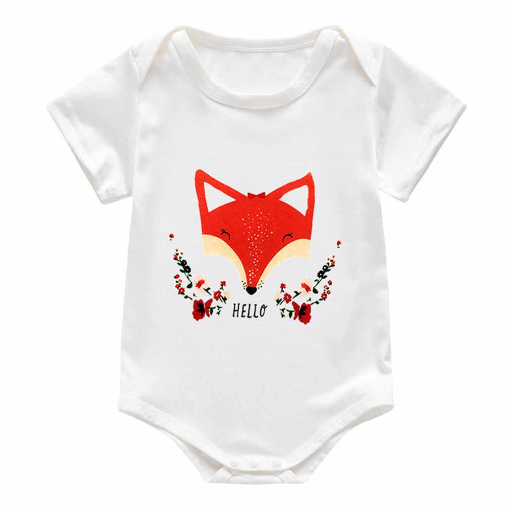 Infant Newborn Baby Girls Boys Cartoon Deer Animal Print Jumpsuit Romper Clothes Long Sleeve Romper Toddler Boy Romper Jumpsuit