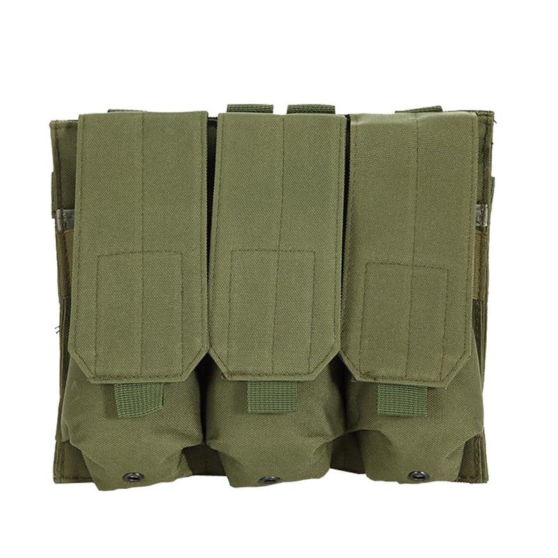 New Hunting Bag Outdoor Molle Tactical Triple AR15 M4 5.56mm Mag Magazine Pouch Pistol Handgun Shooting Vest Tool Dump Drop Bag