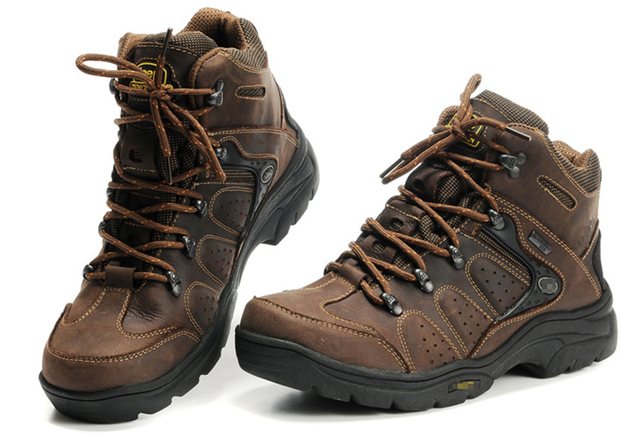 TOURSH Genuine Leather Men Hiking Boots