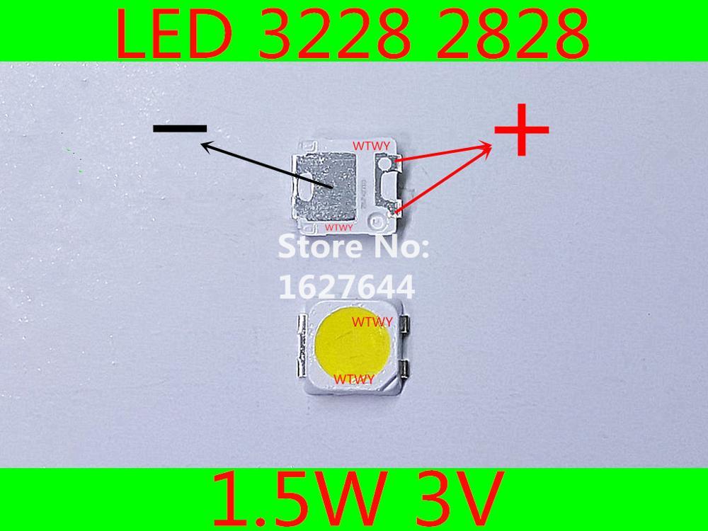 500pcs For SAMSUNG LED LCD TV Backlight Application LED 3228 2828 LED Backlight TV High Power