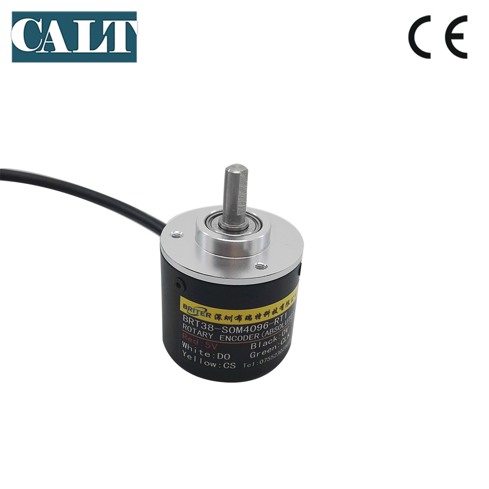 BRT38 R0M 6mm shaft Contactless 10bit 12bit 14bits RS485 interface single turn angle measurement absolute rotary