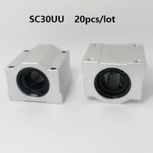 20 pçs/lote SC30UU/SMA30UU SCS30UU 30 milímetros trilho linear blocos para CNC router rolamento do eixo router