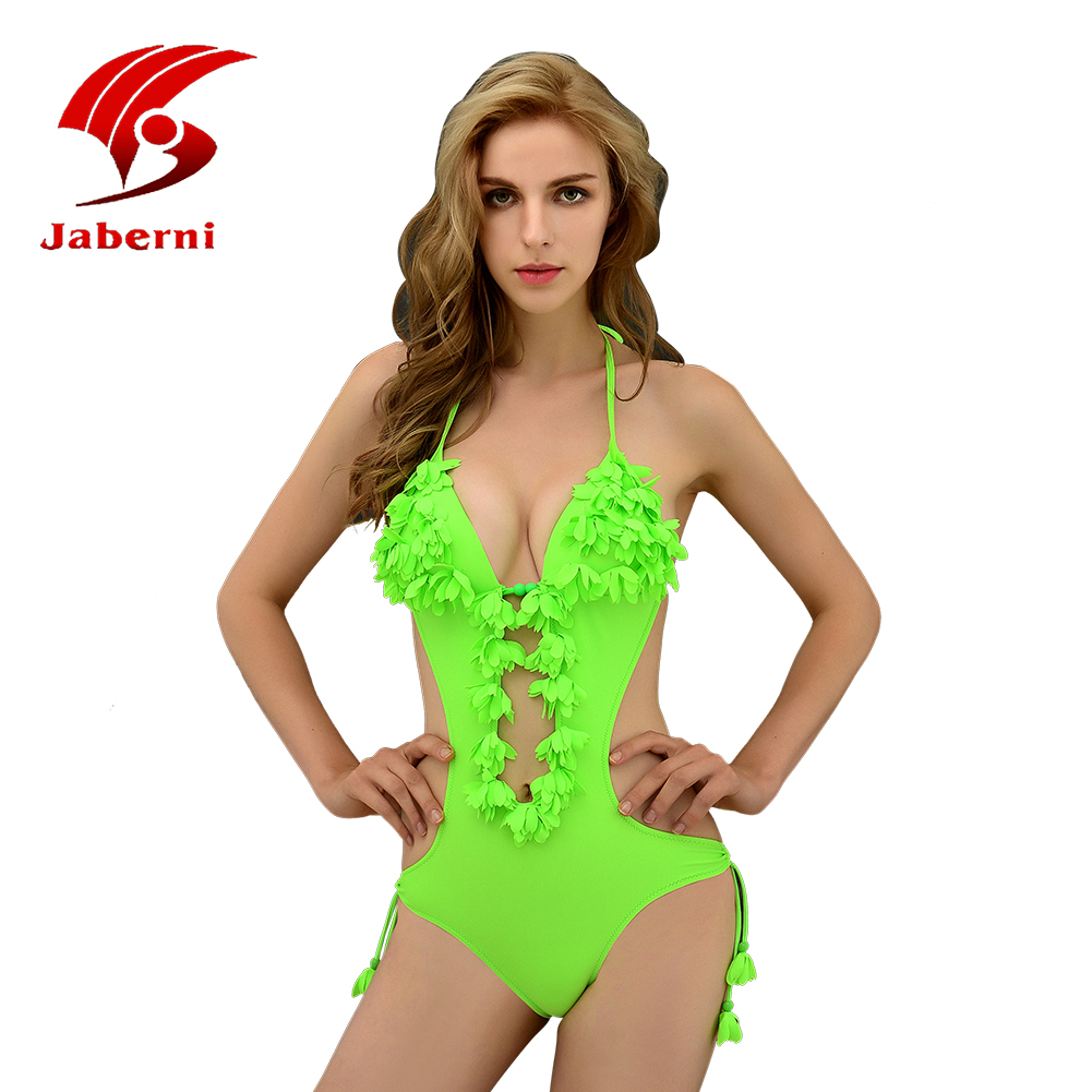 Womens Swimwears Sexy Three-dimensional flowers Bikini Set push up Swimsuit Ladies Solid Secret 2016 New onePieces Bikini