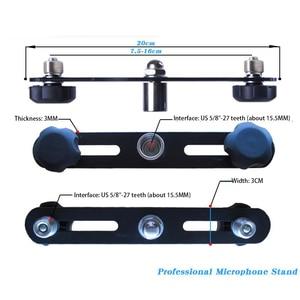 Image 3 - FELYBY Mikrofon Bar Dual Mic Halter Mikrofon Stereo Bar Schwarz T Bar Halterung Mit Doppel Mikrofon Halterungen