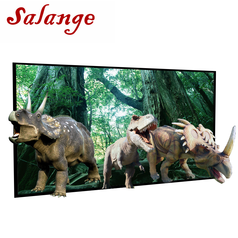 Salange Projector Screen 60 72 100 120 133 inch Projection Screen For XGIMI H2 H1 H1S Z6 Z3 JMGO J6S E8 UNIC UC40 UC46 Projetor 60 72 84 100 120 inch grey screen reflective fabric projection screen for xgimi h1 h2 h1s z6 z4 jmgo j6s projector beamer
