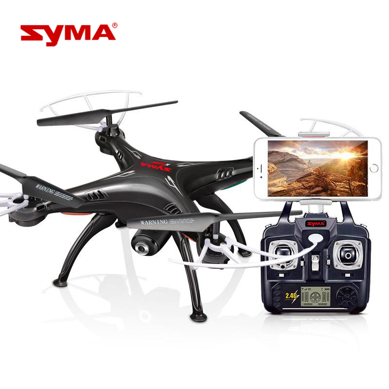 Quadcopter with Real-time Transmit Syma X5SW With FPV Camera HD Camera Drone 2.4G 4CH RC Helicopter syma x8c 2 4g 4ch professional fpv quadcopter drone with hd camera wifi real time transmit control helicopter toy