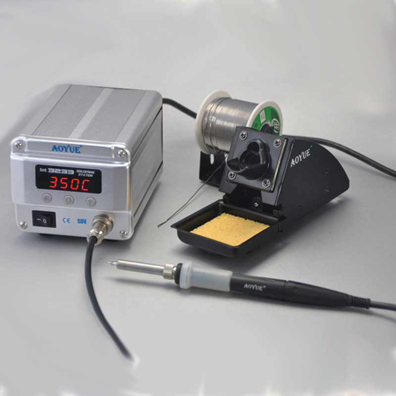 220V AOYUE 3233 High-Power High-Frequency Electric Iron Digital Soldering Station 70W Repairing System SMD Soldering Iron цена