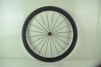 1pcs New 700C 50mm Clincher Rim Road Fixed Gear Bicycle 3K UD 12K Full Carbon Bike