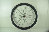 1pcs 700C bicycle 50mm full carbon bike clincher rims wheelsets Free shipping