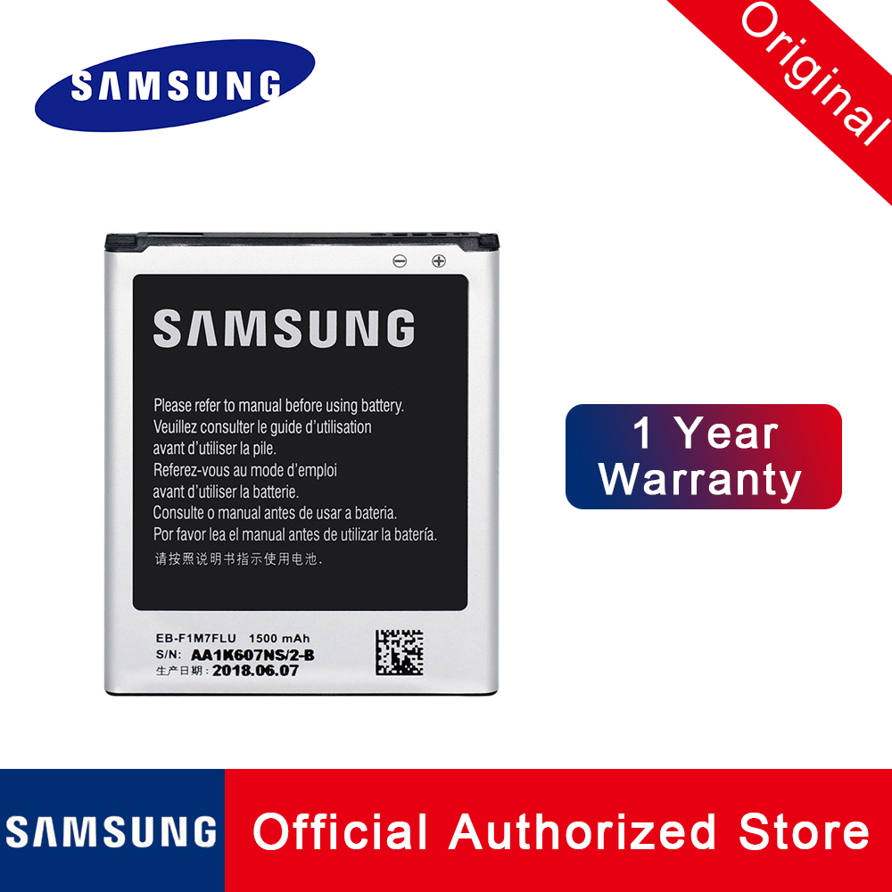 100% Original Samsung Phone <font><b>Battery</b></font> EB-F1M7FLU For Samsung Galaxy S3 Mini <font><b>i8190</b></font> Replacement Batteria Akku 1500mAh Fast shipping image