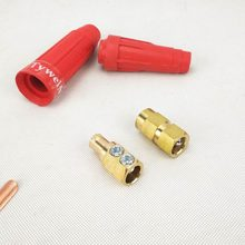 Welding Cable Connector DKJ DKL Style #7-#4/0, 10-95sqmm 250/300/400/500A Quick Fitting Cable Connector/Lug/Socket(China)