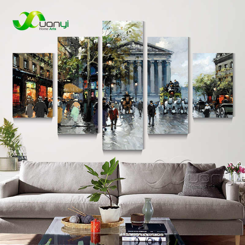 Street Scenes Vista 5 Panel Canvas Print Painting Home Decor Wall Picture For Living Room Modern Canvas Art No Frame Pr1455 Picture For Living Room Wall Picturesdecor Wall Pictures Aliexpress