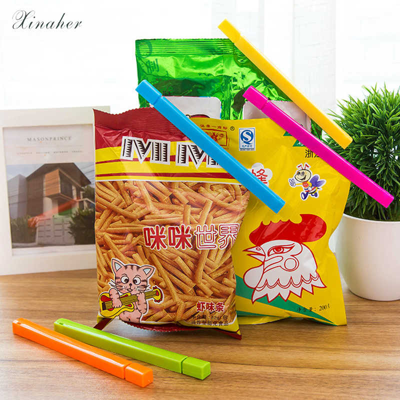 XINAHER Portable New Kitchen Storage Food Snack Seal Sealing Bag Clips Sealer Clamp Plastic Tool