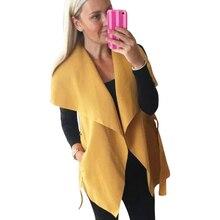 Fashion Women Coat Jacket Autumn Winter Women Jacket Sleeveless Irregular Wasitcoat Lapel Straps Coat With Belt LJ5593M