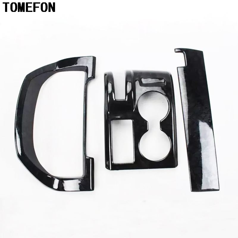 TOMEFON For Honda CRV 2007 to 2011 LHD ABS Special Paint Dashboard Gear Shift Panel Copliot Front Middle Trim Overlay Cover 3Pcs
