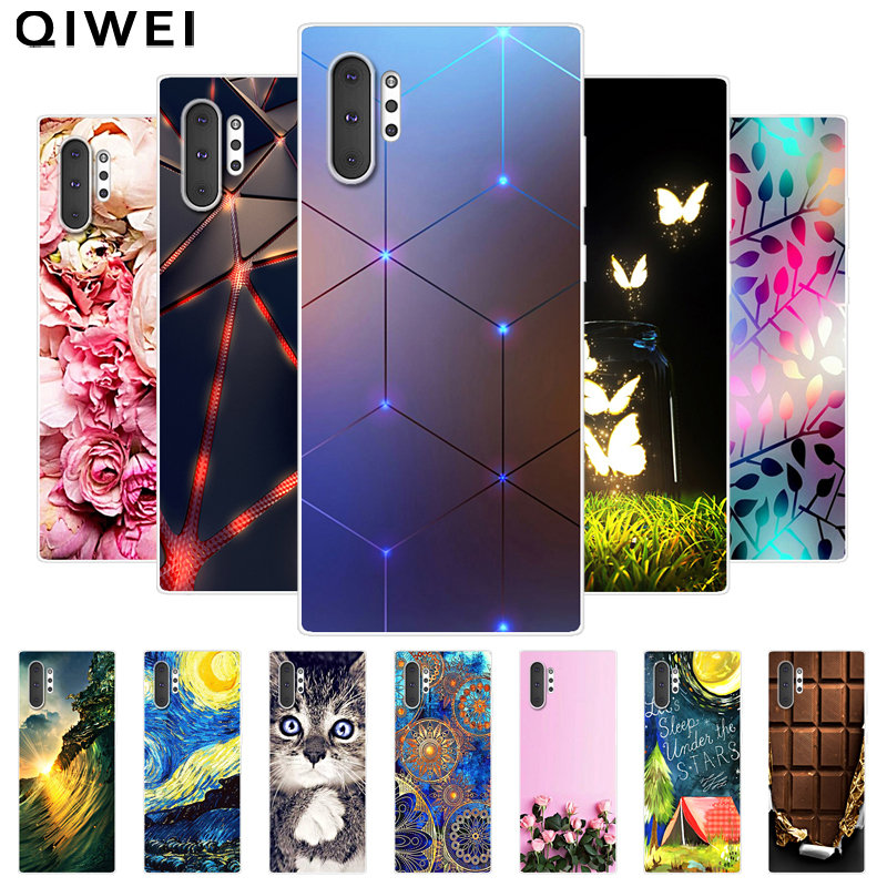 For Samsung Galaxy Note 10 Pro Case 2019 Fashion Silicon Soft TPU Cover For Samsung Note10 Plus Phone Cases Note10+ 10plus 5G