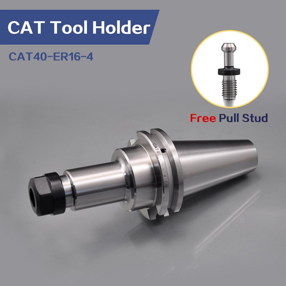 Купить с кэшбэком Universal Tool Holder 4pcs CAT40-ER16-4 Tool Holder and 1pcs CAT40 Pull Stud Wrench For CNC Tool Holder Adaptor