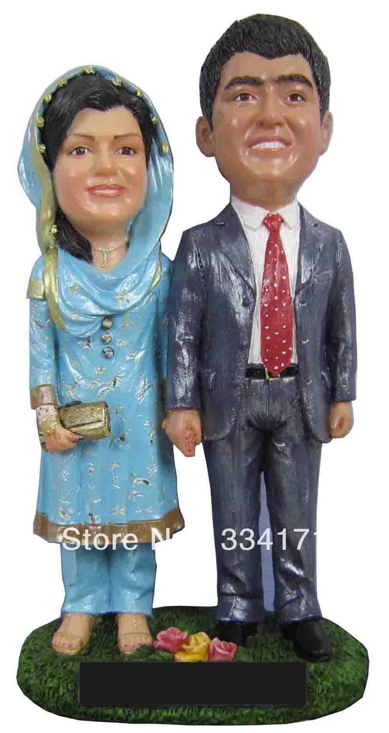 Personalized bobblehead doll india wedding gift wedding decoration personalized bobblehead doll india wedding gift wedding decoration fixed polyresin body polyresin head in cake decorating supplies from home garden on junglespirit Images