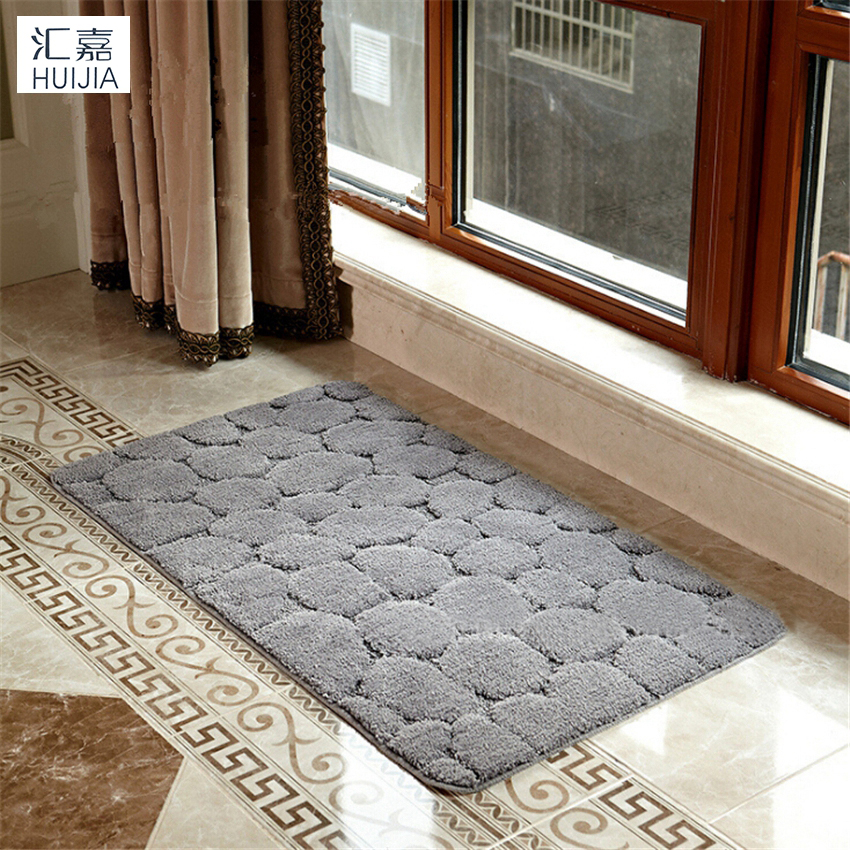 Stone Surface Microfiber Door Mat Non Slip Soft Rug And