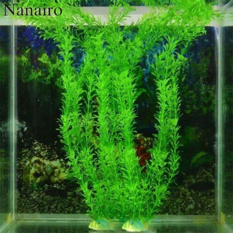 37cm Underwater Artificial Aquatic Plant Ornaments Aquarium Fish Tank Green Water Grass Decor Landscape Decoration