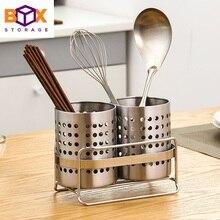 Vajilla cesta de almacenamiento con soporte palillos cuchara cuchillo  tenedor vajilla Rack drenaje cocina Accesorios a3582d91308c