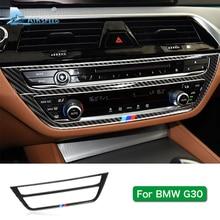 Airspeed for BMW 5 Series G30 528i 530i 540i Carbon Fiber Car Central Console Decorative Frame Sticker Trim Interior Accessories