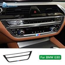 Скорость полета для BMW 5 серии G30 528i 530i 540i углерода волокно автомобиля центральной консоли декоративная наклейка на рамку отделкой салонные аксессуары