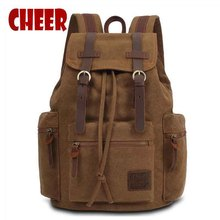 Male bag men's canvas backpack men's laptop notebook military space icons on the backpack knapsack school bags sac