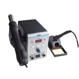 Image 3 - Eruntop 8586 8586 + 8586D + 858D 8858 الكهربائية لحام الحديد + حار مسدس هواء أفضل SMD إعادة صياغة محطة ترقية 8586D