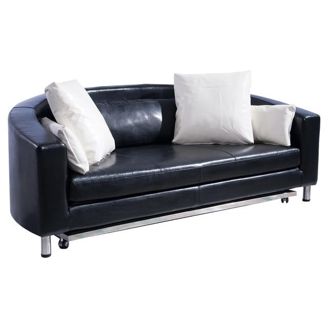 Legno Pieghevole divano letto In pelle/Camera Da Letto mobili divano ...