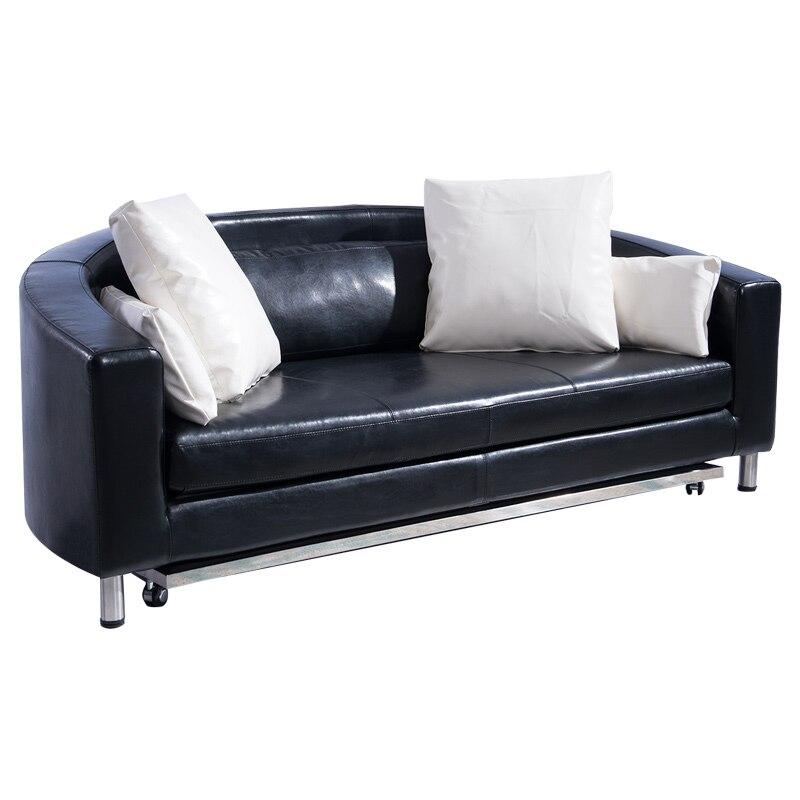 Wooden Folding Leather sofa bed /Bedroom furniture sofa bed пуф wooden круглый белый