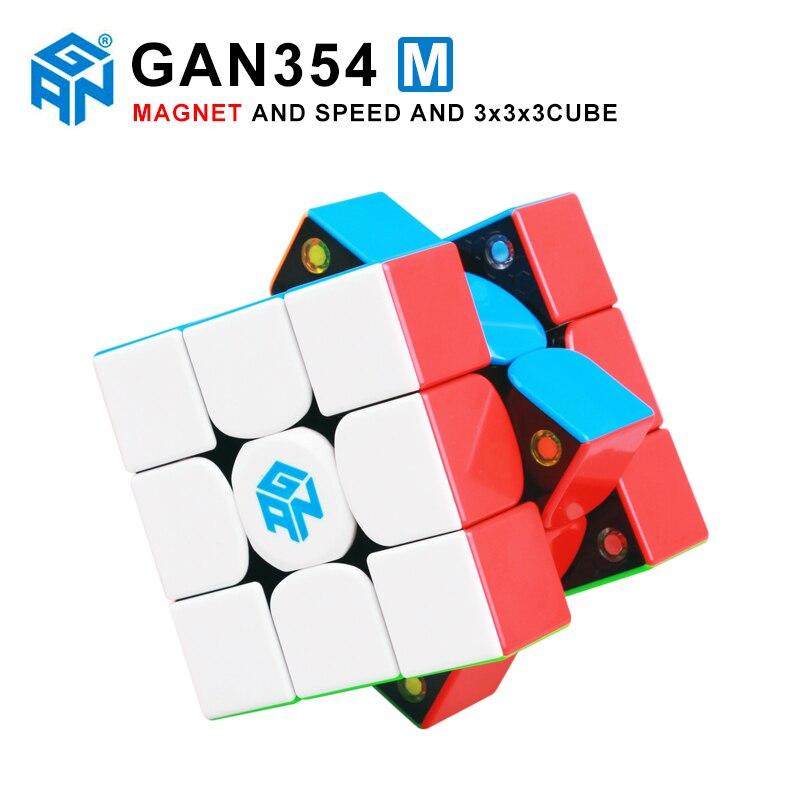 Gan354 M 3x3x3 magnétique magique vitesse Cube sans autocollant Gan 354 aimants professionnels Puzzle vitesse Cube jouet éducatif pour enfant Gans